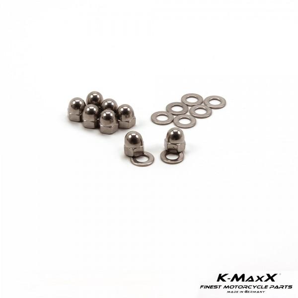 Satz Krümmer-Muttern Edelstahl für Yamaha XJR 1200 / 1300