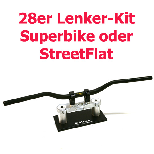 28mm-Alu-Lenker-Kit Superbike / StreetFlat